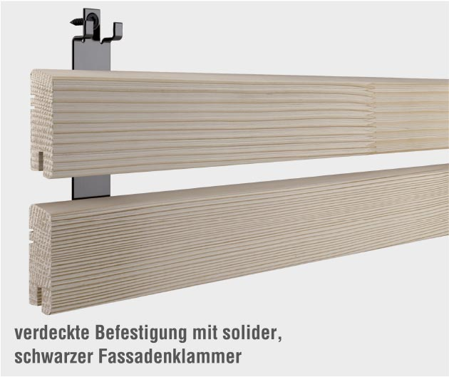Rhombus Klipp Osmo unsichtbare Befestigungssystem Profile Pure Fassadenklammer